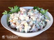 Салат з лісових грибів (Салат с лесных грибов)