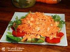 Салат з морковки по-корейськи та солених груздів